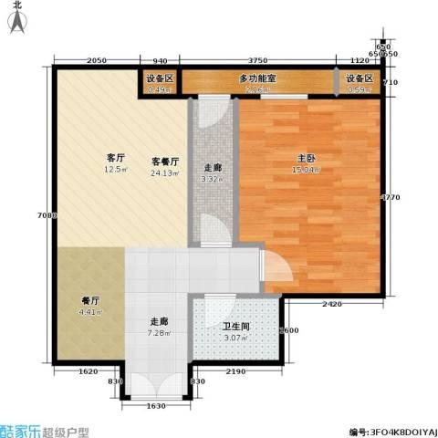 西成忆树1室1厅1卫0厨66.00㎡户型图