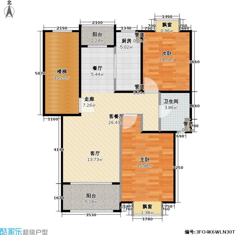 华邦佳苑房型户型2室1厅1卫1厨