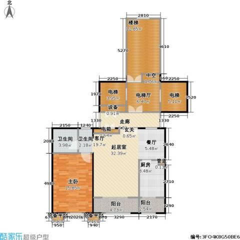 都市节奏1室0厅1卫1厨98.44㎡户型图