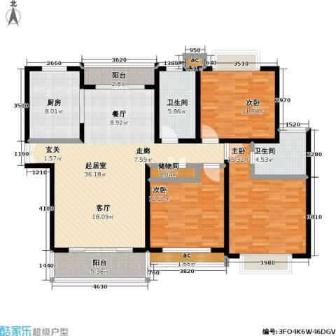 汇京佳丽园3室0厅2卫1厨125.00㎡户型图