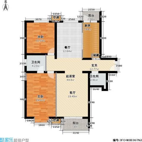 首开知语城2室0厅2卫1厨140.00㎡户型图