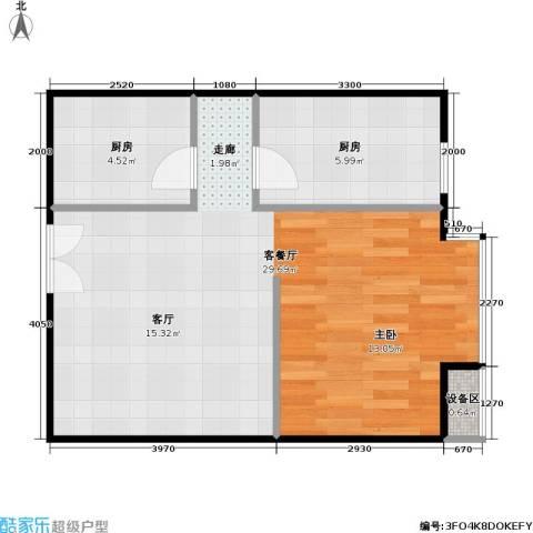 西成忆树1厅0卫2厨55.00㎡户型图