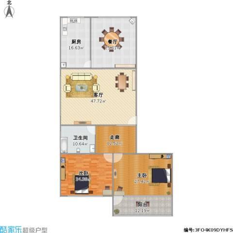 逸东花园2室2厅1卫1厨233.00㎡户型图