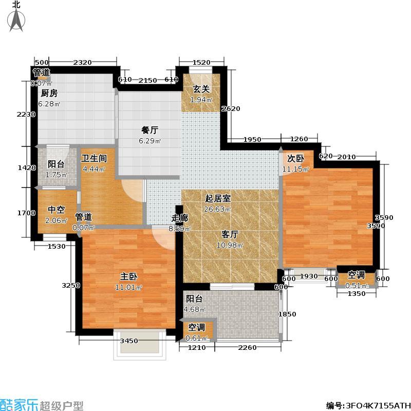 上海奥林匹克花园80.00㎡二房二厅一卫-80-90平米-70套户型
