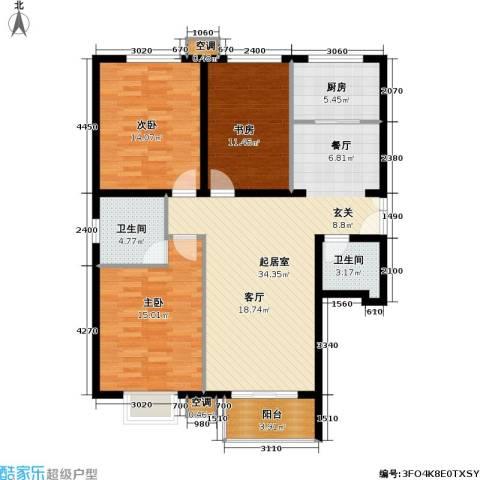 首开知语城3室0厅2卫1厨131.00㎡户型图