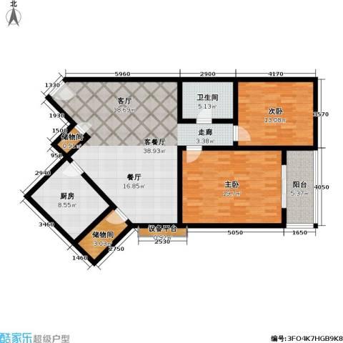 正力公寓2室1厅1卫1厨137.00㎡户型图