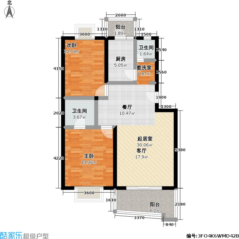 中星羽山公寓88.97㎡房型: 二房; 面积段: 88.97 -88.97 平方米;户型