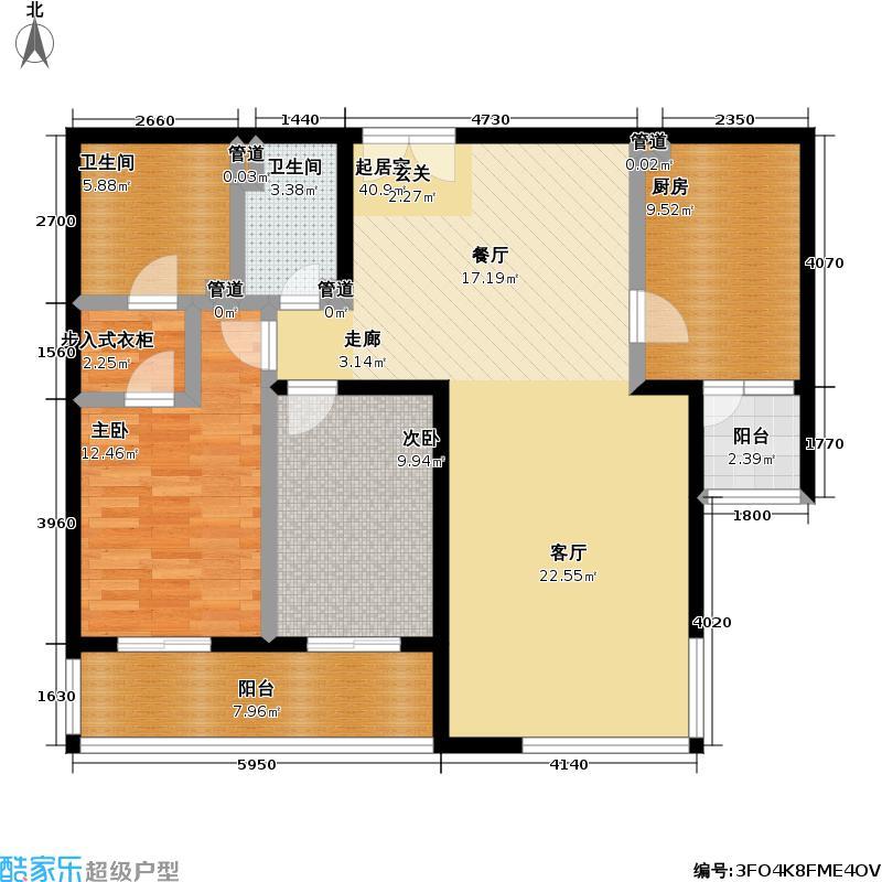 境界・水晶城2室2厅2卫1厨户型