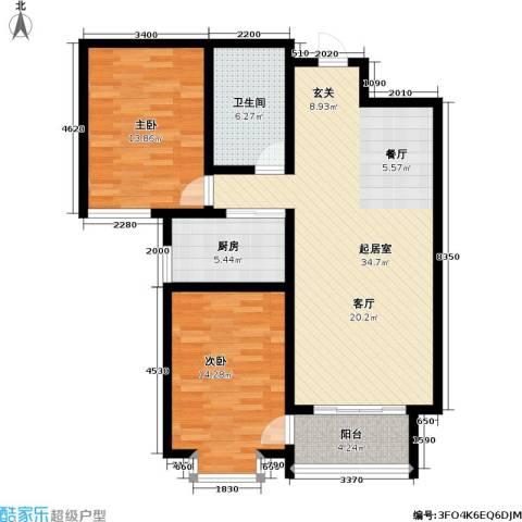 巨华世纪城2室0厅1卫1厨112.00㎡户型图