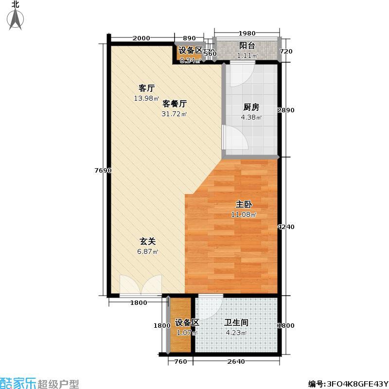 西成忆树13号楼三单元02户型