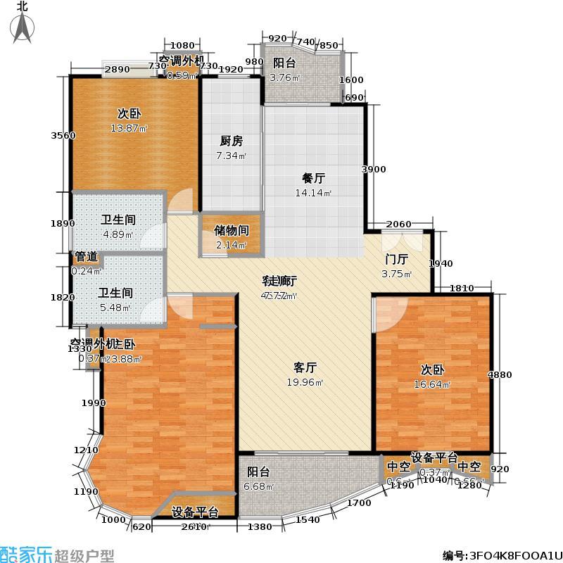 永久城市花园135.73㎡房型: 三房; 面积段: 135.73 -135.73 平方米; 户型