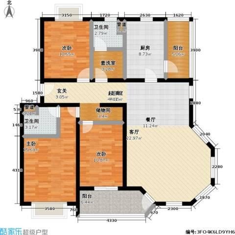 好世凤凰城二期3室0厅2卫1厨129.00㎡户型图