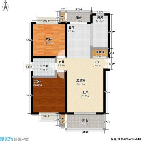 汇京佳丽园2室0厅1卫1厨95.00㎡户型图