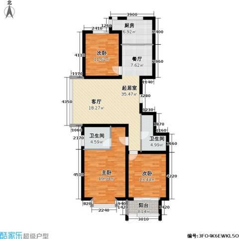 巨华世纪城3室0厅2卫1厨127.00㎡户型图