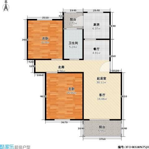 凌兆佳苑2室0厅1卫1厨78.75㎡户型图