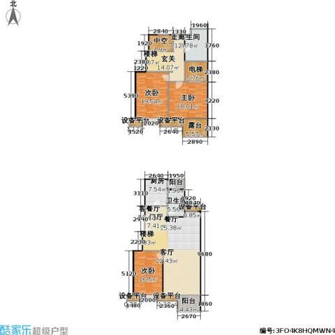 时代龙和大道3室1厅2卫1厨182.00㎡户型图