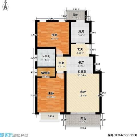 联鑫虹桥苑一期2室0厅1卫1厨109.00㎡户型图