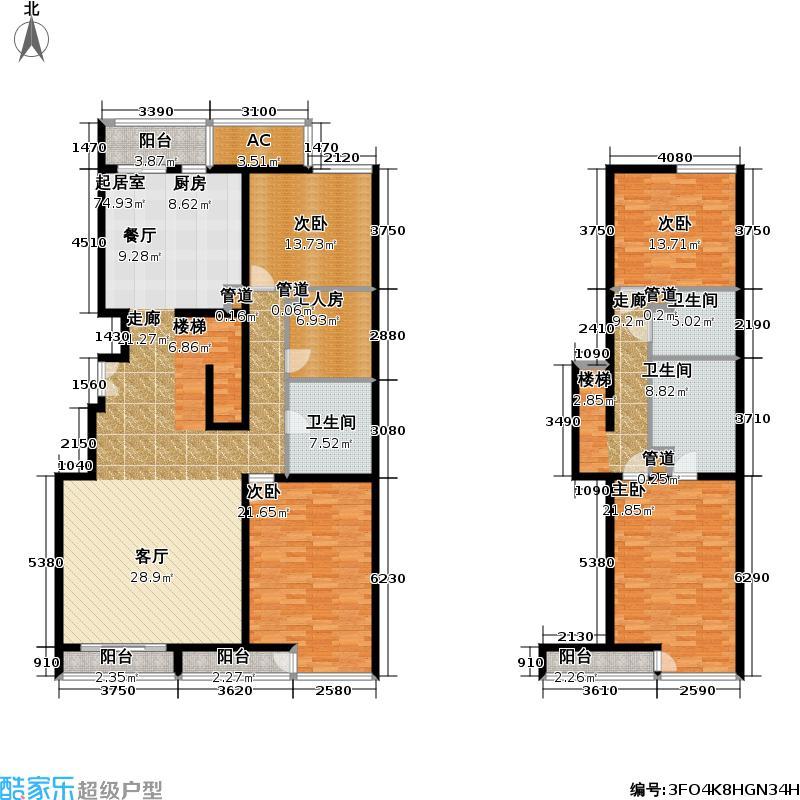 山的理想226.26㎡四室两厅户型