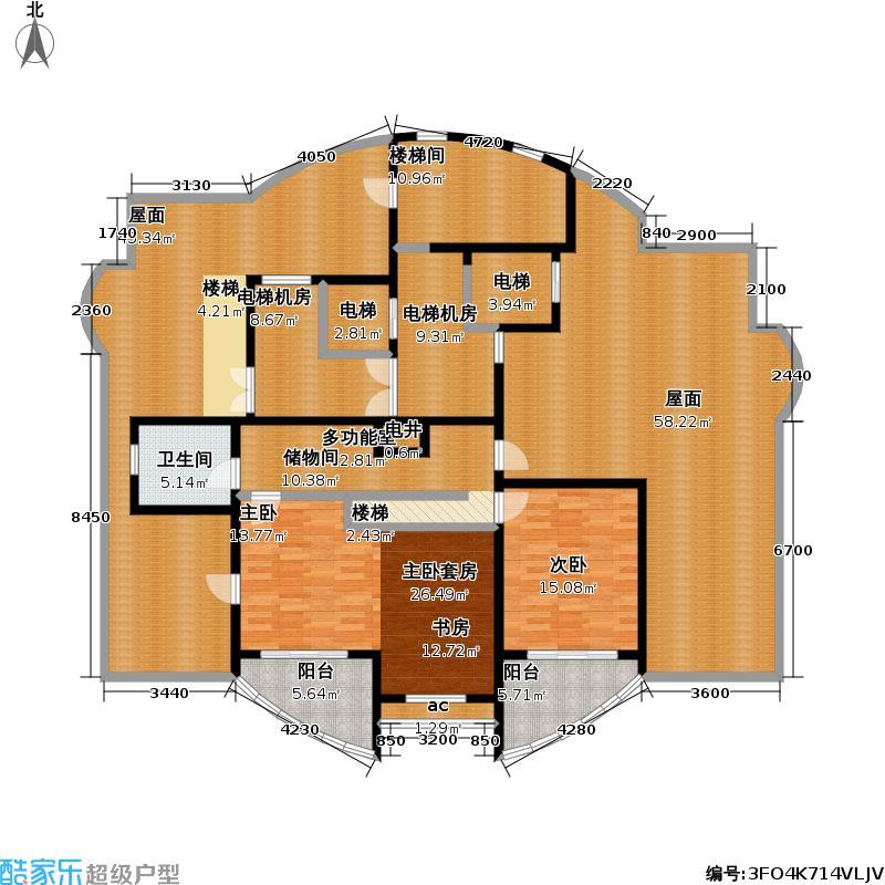 九城湖滨国际公寓198.00㎡房型: 复式; 面积段: 198 -217 平方米;户型