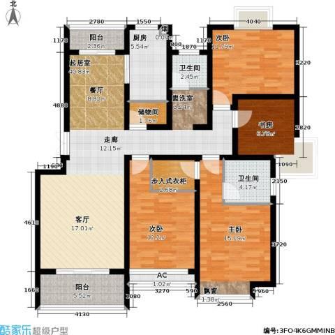 复地翠微新城(三期)4室0厅2卫1厨137.00㎡户型图