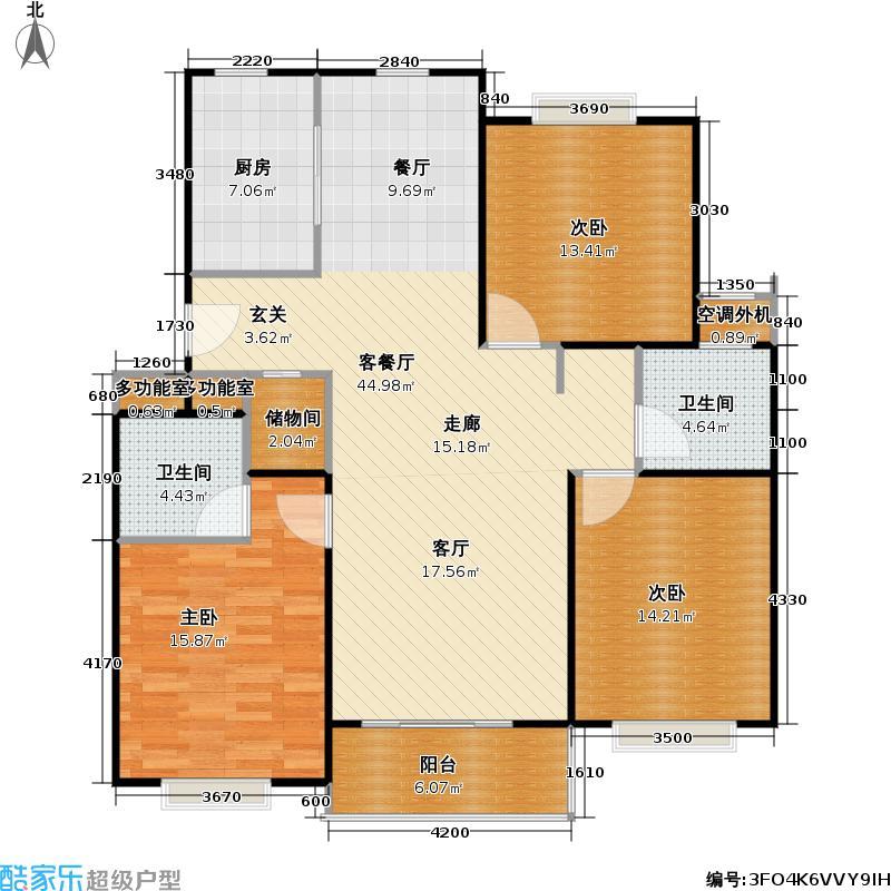 鑫鑫花园一期房型户型3室1厅2卫1厨