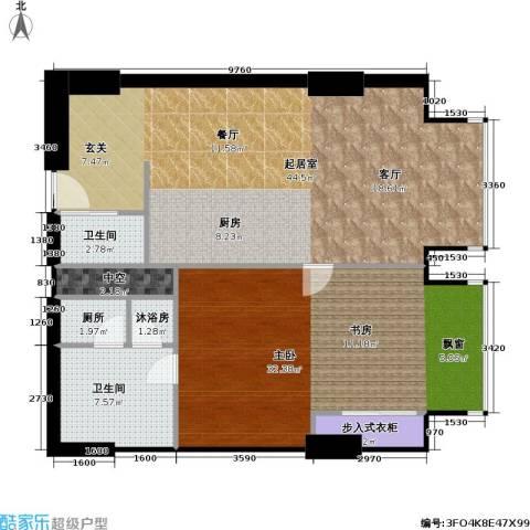 工体3号1室0厅2卫0厨105.00㎡户型图