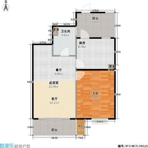 桃源兴城苑(二期)东块1室0厅1卫1厨65.00㎡户型图
