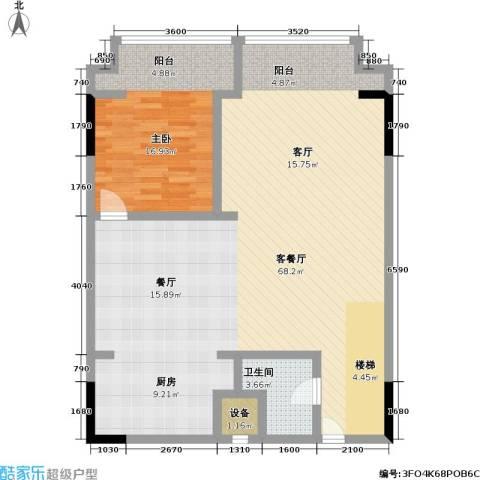 漕湖之星1室1厅1卫0厨100.00㎡户型图