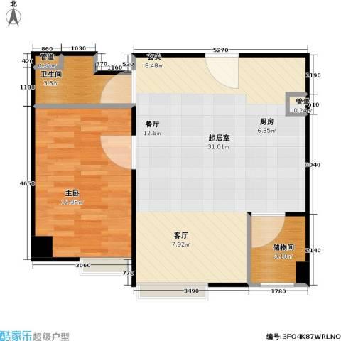 东方郁金香1室0厅1卫0厨68.00㎡户型图