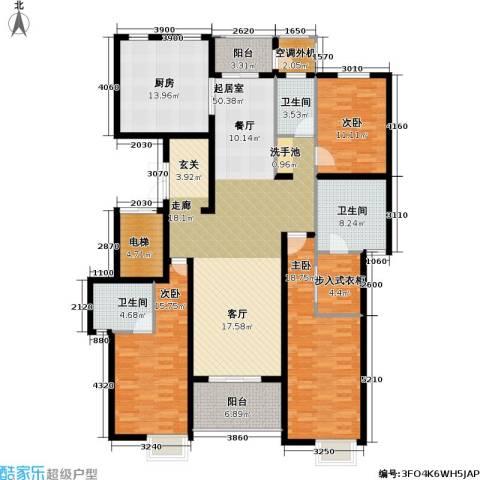 保利御樽苑商业3室0厅3卫1厨210.00㎡户型图