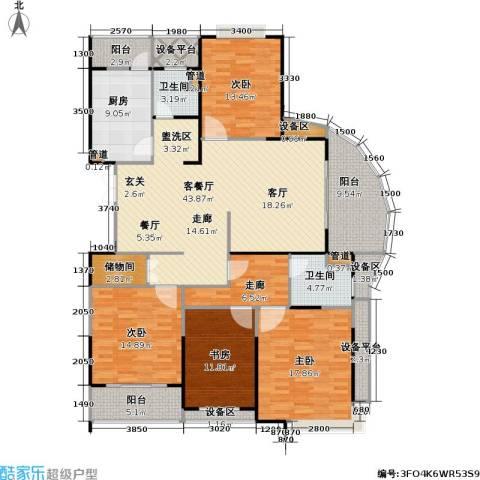 南方城二期4室1厅2卫1厨168.00㎡户型图