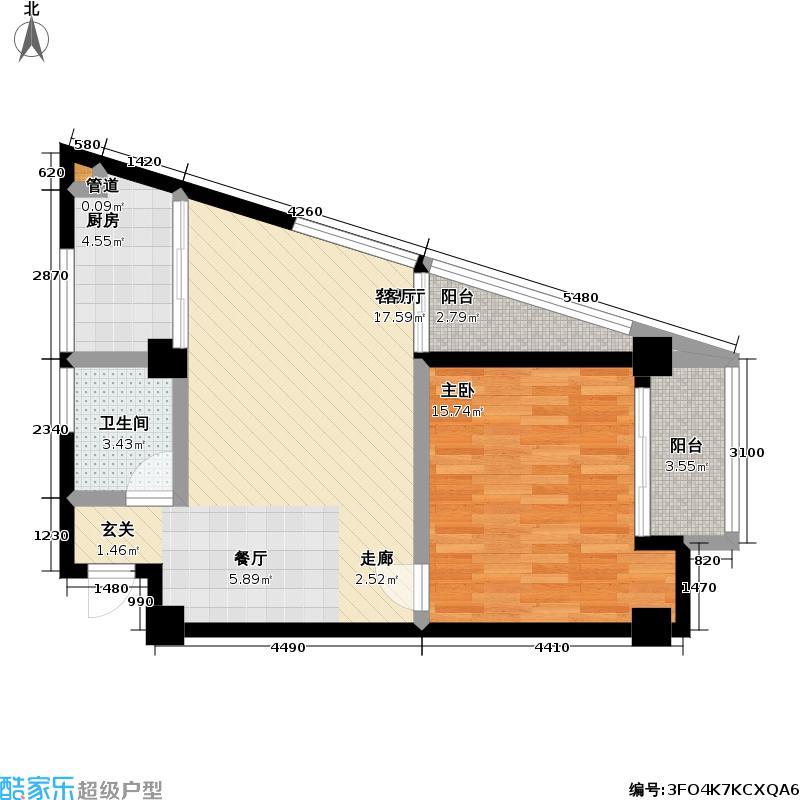 万科城市花园(一期)184.00㎡房型: 复式; 面积段: 184 -204 平方米;户型