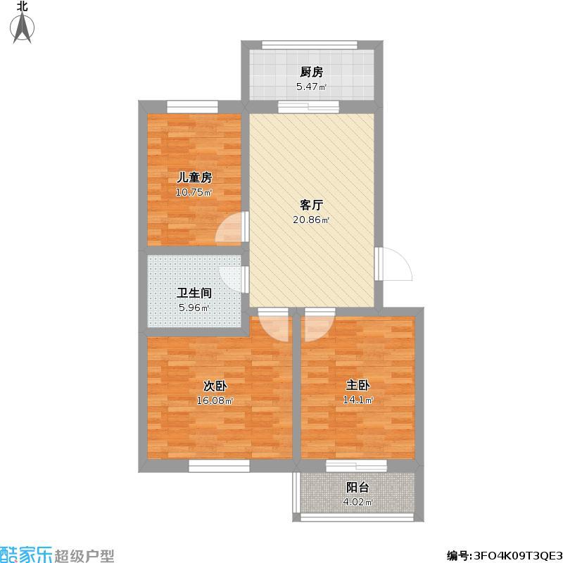 紧凑型三室两厅一卫