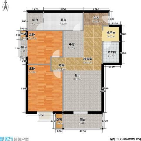 正力公寓2室0厅1卫1厨134.00㎡户型图