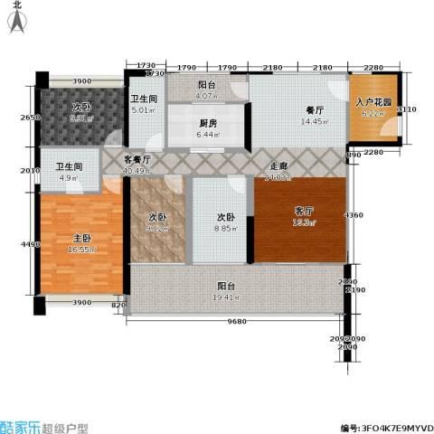 DADA的草地4室1厅2卫1厨181.00㎡户型图
