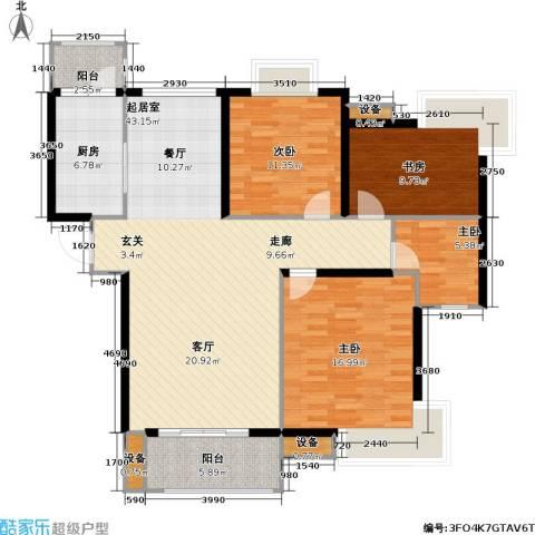 路劲湖畔天城4室0厅0卫1厨114.00㎡户型图
