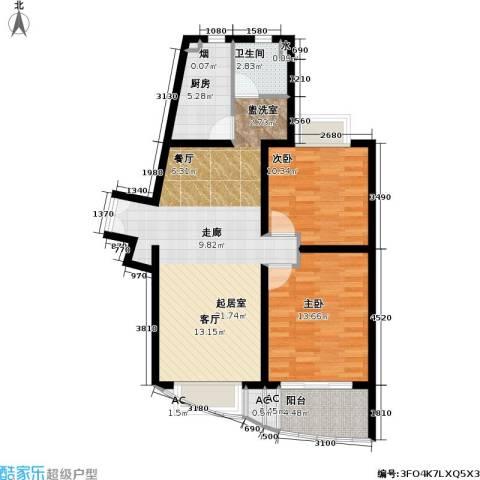 上海壹街区一期2室0厅1卫1厨89.00㎡户型图