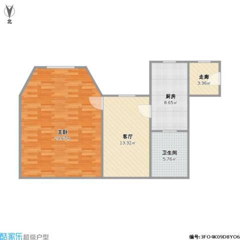 番禺大厦1室1厅1卫1厨81.00㎡户型图