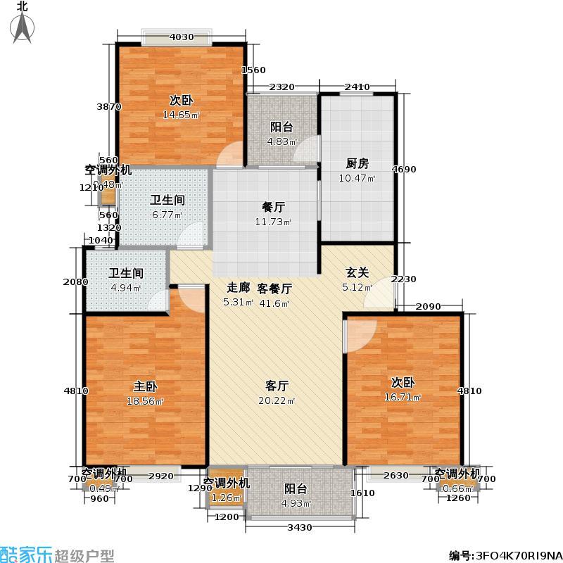 枫庭丽苑一期房型: 三房; 面积段: 106 -136 平方米; 户型