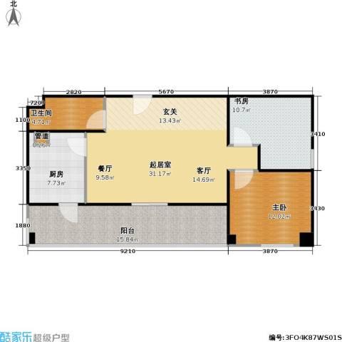 东方郁金香2室0厅1卫1厨101.00㎡户型图
