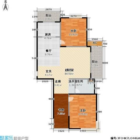 桃源兴城苑(二期)东块2室0厅1卫1厨92.00㎡户型图