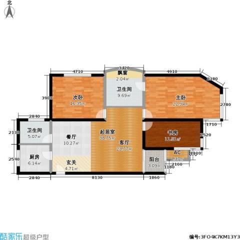 大众河滨大厦3室0厅2卫1厨130.00㎡户型图