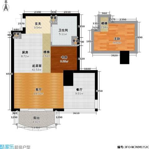 大众河滨大厦1室0厅1卫0厨61.46㎡户型图