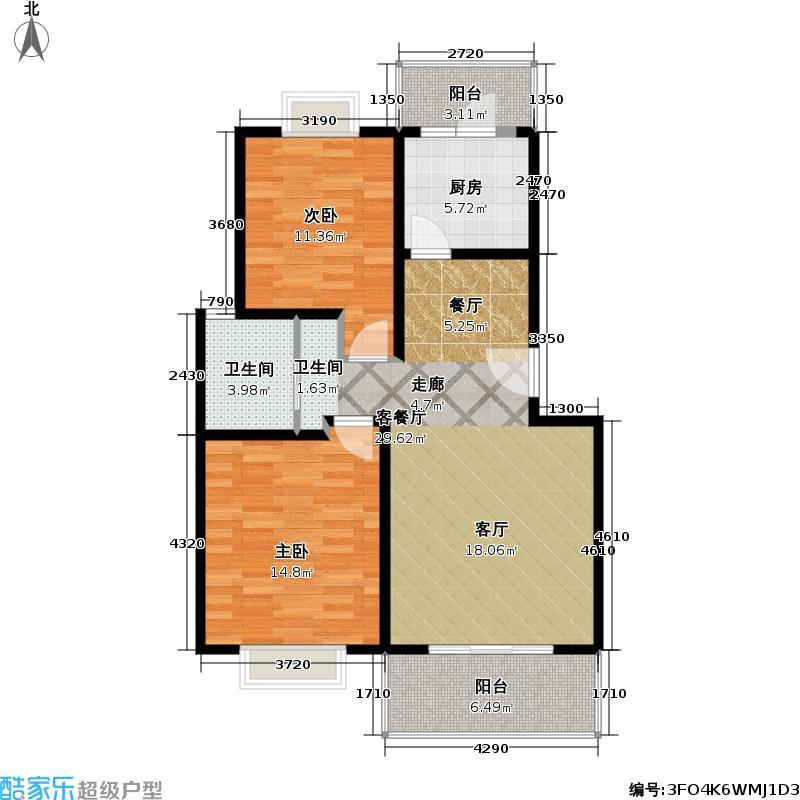 日月新苑82.00㎡房型: 二房; 面积段: 82 -115.09 平方米; 户型