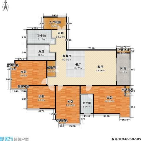 宝安江南城三期御城4室1厅2卫1厨180.00㎡户型图