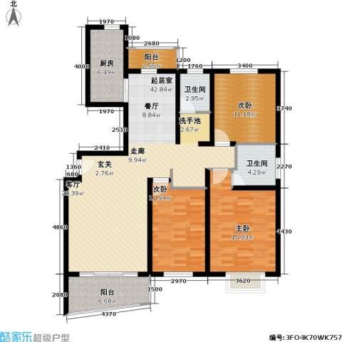 绿邑新境3室0厅2卫1厨119.00㎡户型图