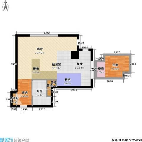 大众河滨大厦1室0厅0卫1厨56.44㎡户型图
