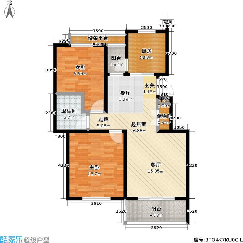 东方雅苑--82套户型2室1卫1厨