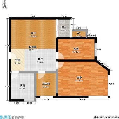 大众河滨大厦2室0厅1卫1厨94.00㎡户型图