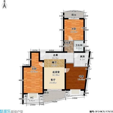 上海壹街区一期3室0厅1卫1厨134.00㎡户型图
